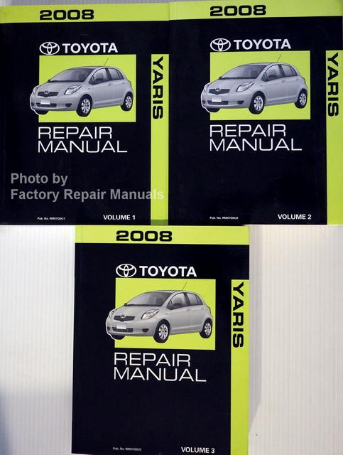 2008 toyota yaris factory service manual 3 volume set original shop rh factoryrepairmanuals com 2008 toyota yaris service manual 2008 toyota yaris owners manual