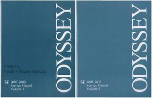 2007 2008 honda odyssey factory service repair manual 2 volume set rh factoryrepairmanuals com 2007 honda odyssey repair manual free 2007 honda odyssey repair manual free