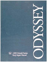 Honda 1999 Models Series Body Repair Manual Odyssey