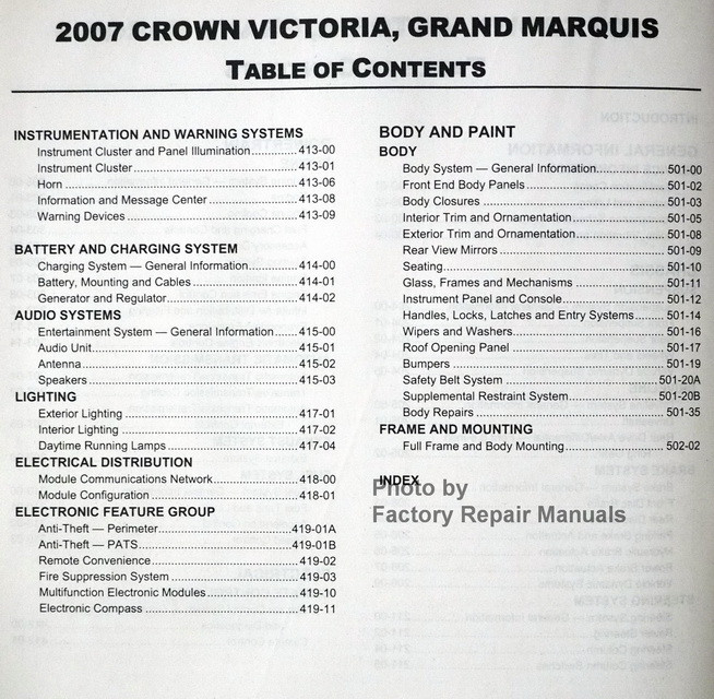 ford motor company service manuals
