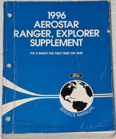 1996 Ford Aerostar, Explorer & Ranger Factory Service Manual Supplement
