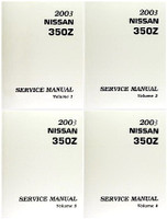 2003 Nissan 350Z Service Manuals Volume 1, 2, 3, 4