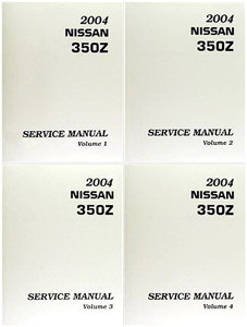 2004 nissan 350z coupe roadster factory service manual complete rh factoryrepairmanuals com 2004 nissan 350z service manual pdf 2004 nissan 350z service manual