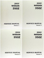 2005 Nissan 350Z Factory Service Manual - Complete 4 Volume Set