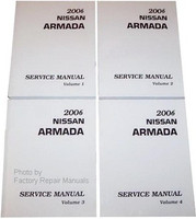 2006 Nissan Armada Factory Service Manual - Complete 4 Volume Set