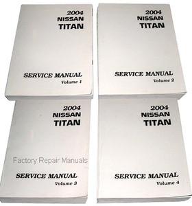 2004 nissan titan factory shop service manual 7 volume set factory rh factoryrepairmanuals com free 2004 nissan titan repair manual 2004 nissan titan service manual pdf