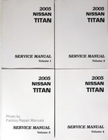 2005 Nissan Titan Factory Service Manual - Complete 4 Volume Set