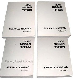 2006 nissan titan factory service manual complete 4 volume set rh factoryrepairmanuals com 2007 Nissan Titan Repair Manual 2008 nissan titan factory service manual