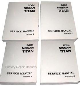2006 nissan titan factory service manual complete 4 volume set rh factoryrepairmanuals com 2010 Nissan Titan 2007 Nissan Titan Repair Manual