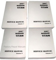 2007 Nissan Titan Factory Service Manual - Complete 4 Volume Set