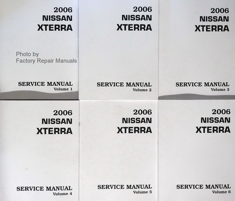 2006 nissan xterra factory shop service manual set print to order rh factoryrepairmanuals com 2012 Nissan Xterra Nissan Xterra SUV