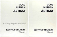 2001 Nissan Altima Factory Service Manual - Complete 2 Volume Set