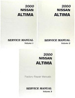 2000 Nissan Altima Factory Service Manual - Complete 3 Volume Set