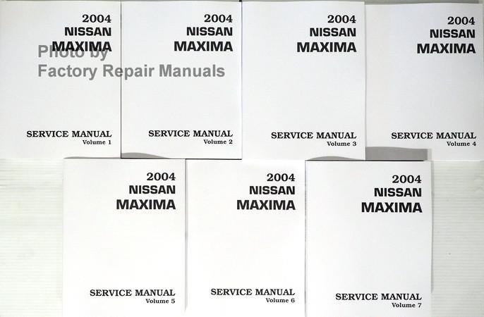 2004 nissan maxima factory service manual set original shop repair rh factoryrepairmanuals com 07 Maxima 09 Maxima