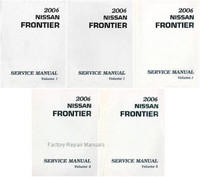 2005 Nissan Frontier Service Manual Volume 1, 2, 3, 4, 5