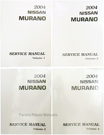 2004 nissan murano factory service manual complete 4 volume set rh factoryrepairmanuals com 2004 nissan murano service repair manual 2004 nissan murano owners manual