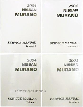 2004 nissan murano factory service manual complete 4 volume set rh factoryrepairmanuals com Nissan Murano Rear Suspension 2004 nissan murano service manual download