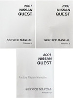 2001 Nissan Quest Factory Service Manual - Complete 3 Volume Set