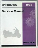 1984 HONDA AERO 125 Scooter Factory Service Manual NH125 Dealer Shop Repair