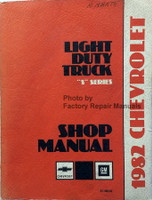 1982 Chevrolet Light Duty Truck S Series Shop Manual