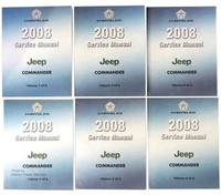 2008 Jeep Commander Factory Service Shop Manual 6 Volume Set