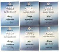2008 Jeep Commander Factory Service Manual Shop Repair Set