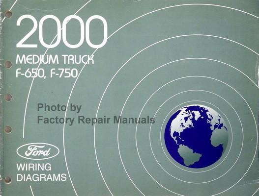 2000 ford f650 f750 medium duty truck electrical wiring diagrams rh factoryrepairmanuals com Ford Car Wiring Diagrams wiring diagram for ford 5000 tractor