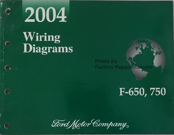 2004 Ford F650 F750 Medium Duty Truck Electrical Wiring Diagrams