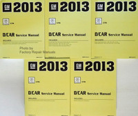 GM 2013 Cadillac CTS D/Car Service Manual Volume 1, 2, 3, 4, 5