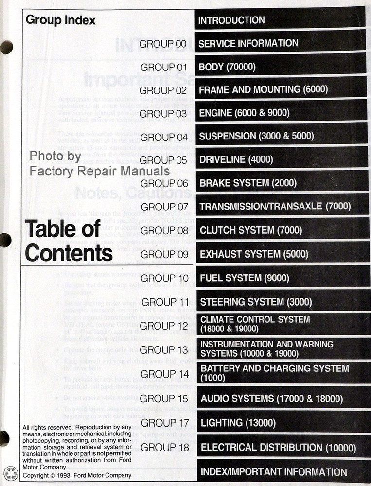 1994 Lincoln Mark VIII Factory Service Manual Original