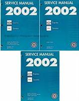 2002 Chevy Express Van GMC Savana 1500 2500 3500 Factory Shop Service Manual Set