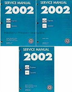 2002 chevy express van gmc savana 1500 2500 3500 factory shop rh factoryrepairmanuals com