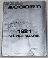 1981 Honda Accord Factory Service Manual Original Shop Repair