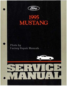 ford mustang factory service manual original shop