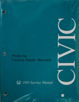 1992 Honda Civic Factory Service Manual Original Shop Repair