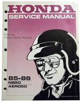 1985 1986 HONDA AERO 50 Scooter Factory Service Manual NB50 Moped Shop Repair