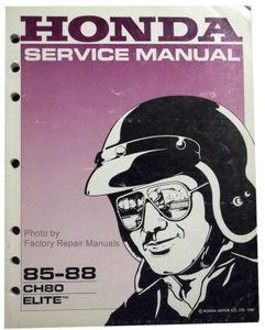 1985 1988 honda elite 80 scooter factory service manual ch80 shop rh factoryrepairmanuals com honda elite 80 repair manual honda elite 250 repair manual