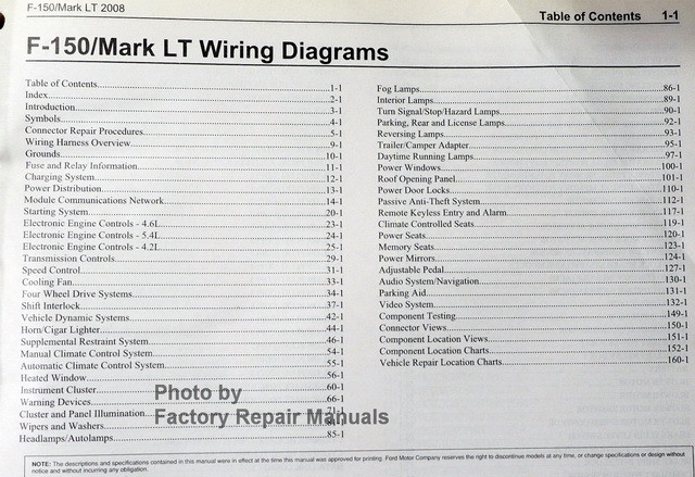 2008 Ford F-150  Lincoln Mark Lt Electrical Wiring Diagrams Manual