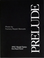 Honda Prelude 1992 Model Series Body Repair Manual