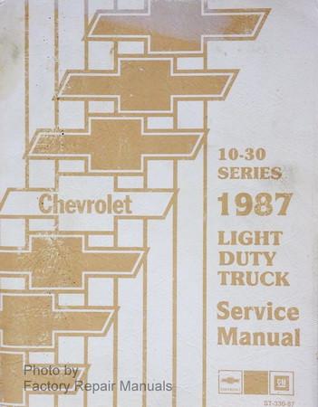 1987 chevy pickup truck suburban blazer factory shop service manual rh factoryrepairmanuals com 2002 chevy blazer factory service manual 2000 blazer factory service manual