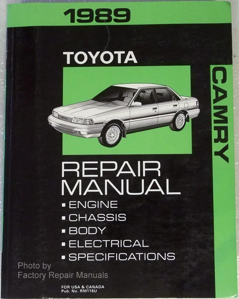 1989 toyota camry factory service manual original shop repair rh factoryrepairmanuals com 1999 Toyota Camry 1989 toyota camry repair manual pdf