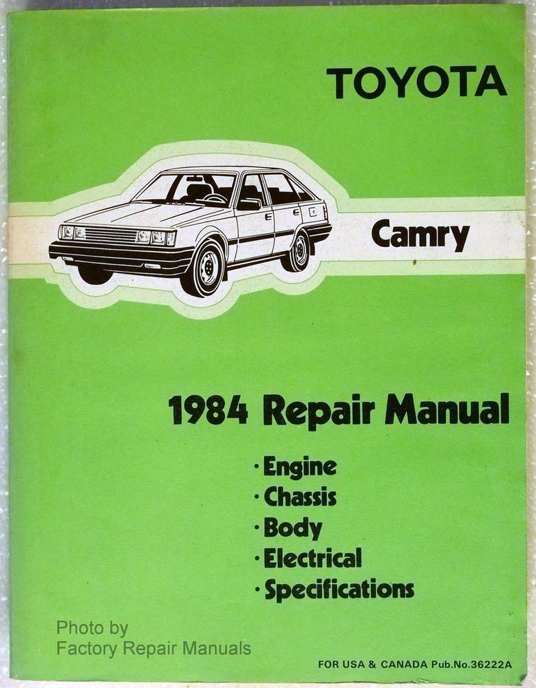1984 toyota camry factory service repair manual gas diesel engines rh factoryrepairmanuals com 1999 toyota camry factory service repair manual download free 2010 Toyota Camry Manual