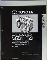 2000 - 2003 Toyota RAV4 4X4 Automatic Transmission Overhaul Repair Manual U140F