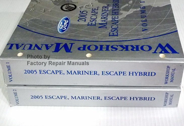 2005 ford escape and mercury mariner factory service manual set original shop repair factory. Black Bedroom Furniture Sets. Home Design Ideas