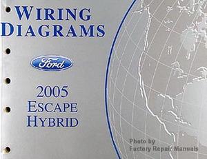 2005 ford escape hybrid electrical wiring diagrams original manual rh factoryrepairmanuals com 2014 Ford Escape Manual 2014 Ford Escape Manual