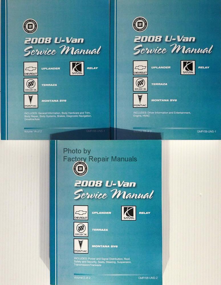 2008 chevrolet uplander and pontiac montana sv6 factory shop service rh factoryrepairmanuals com 2005 Buick Terraza 2005 Buick Terraza