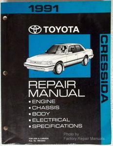 1991 toyota cressida factory service manual original shop repair rh factoryrepairmanuals com MX83 Wallpaper cressida service manual pdf