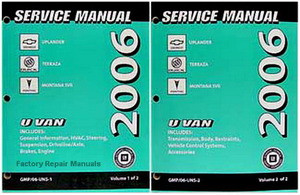2006 chevrolet uplander buick terraza and pontiac montana sv6 rh factoryrepairmanuals com 2014 Buick Terraza 2005 Buick Terraza