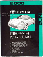 2000 Toyota MR2 Spyder Factory Service Manual - Original Shop Repair