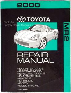 2000 toyota mr2 spyder factory service manual original shop repair rh factoryrepairmanuals com 1997 MR2 1989 MR2